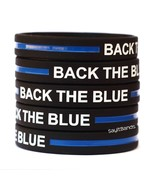 One Hundred 100 BACK THE BLUE Thin Blue Line Wristbands Police Law Enfor... - $46.41+