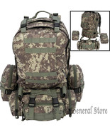 4pc Day Pack Digital Camo Backpack Survival Gear Bug Out Bag Tactical Mi... - $65.89