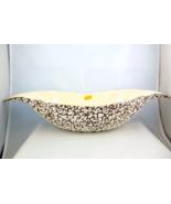 Royal Haeger White Stone Lace console centerpiece bowl popcorn texture - $55.00