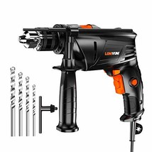 Hammer Drill, LOMVUM 1/2 In. 6.75 Amp Variable Speed dual-mode Impact Dr... - $41.34