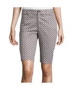 St. John's Bay Secretly Slender Bermuda Shorts Size 4 New Cafe Brown - $16.99