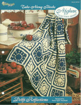 Needlecraft Shop Crochet Pattern 962350 Delft Reflections Afghan Series - $4.99