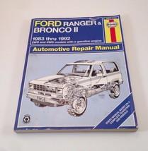 Haynes Repair Manual: Ford Ranger and Bronco II 1983 Thru 1992 : 2wd and... - $14.50