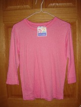 Fresh Produce Top L Punch Soft Sheen 3/4 Sleeve Top NWT - $14.99