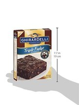 Plate Ghirardelli Chocolate Triple Fudge Browni... - $33.24