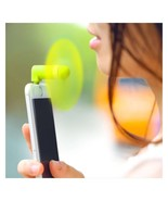 Fan Portable Travel Mini Cooling Fan For iPhone 5/5S/5C/6/6S Plus Lime AC2 - $3.99