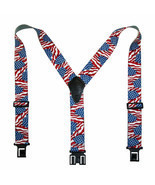 New Perry Suspenders Mens Elastic Hook End American Flag Suspenders (Reg... - $19.50