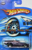 Hot Wheels Mustang Funny Car Dragster '71 Deep Purple #182 '05 Scale 1/6... - $8.89
