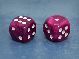 Deluxe 16mm Six-sided Die (Marbled Purple) - $0.85