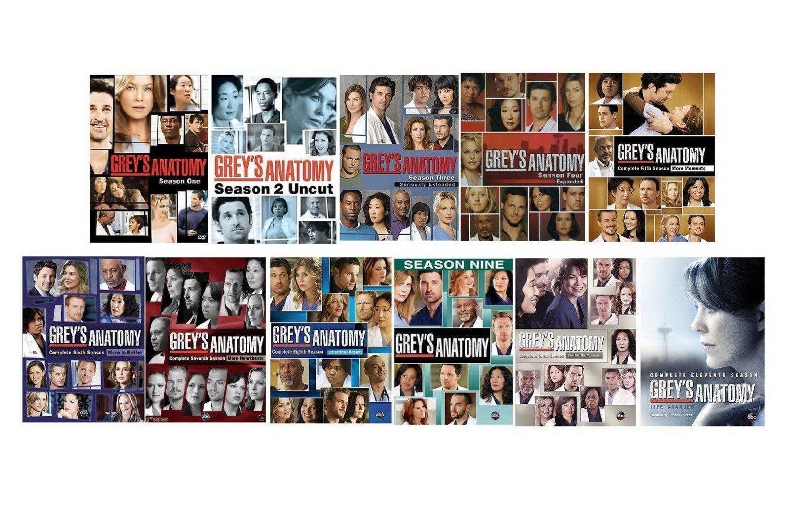 greys anatomy complete 1 11 dvd series 1 10 11 grey 39 s