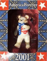 "Bear in a Box, Red White & Blue ""America Forever"" 2001 [Brand New] Ornament - $13.45"