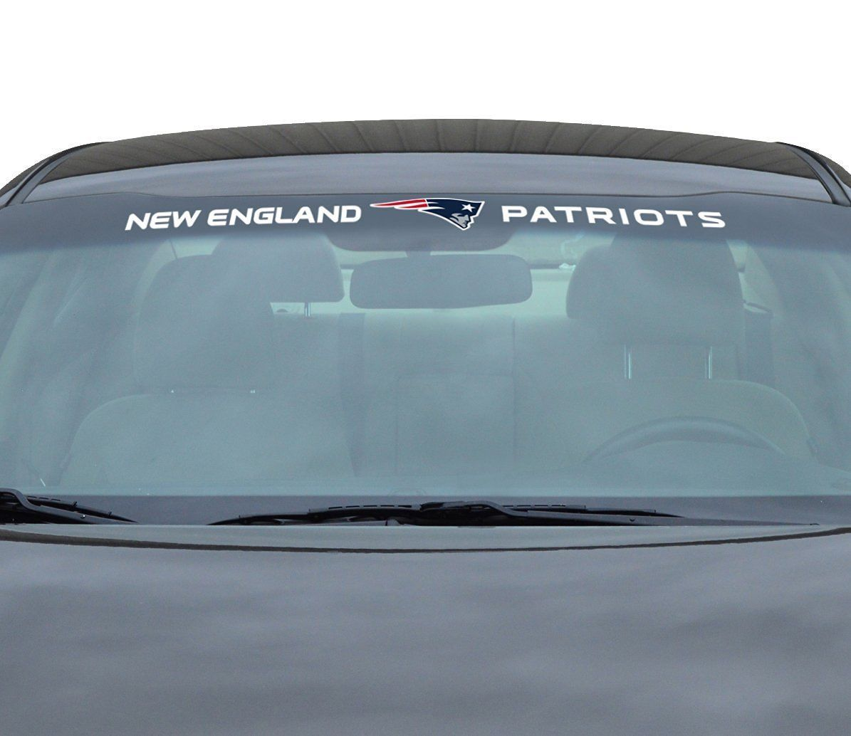 "NEW ENGLAND PATRIOTS 35"" X 4"" WINDSHIELD REAR WINDOW DECAL CAR SUV NFL FOOTBALL"