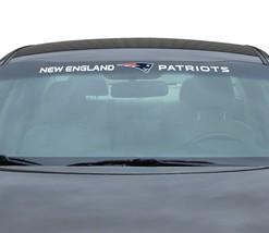 "NEW ENGLAND PATRIOTS 35"" X 4"" WINDSHIELD REAR WINDOW DECAL CAR SUV NFL FOOTBALL"