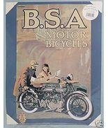 B.S.A. Motor Bicycles Nostalgic Metal Poster - $9.79