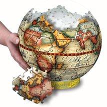 "212 Piece 3D Spherical Jigsaw Puzzle ""Antique Globe"" [Brand New] - $34.64"