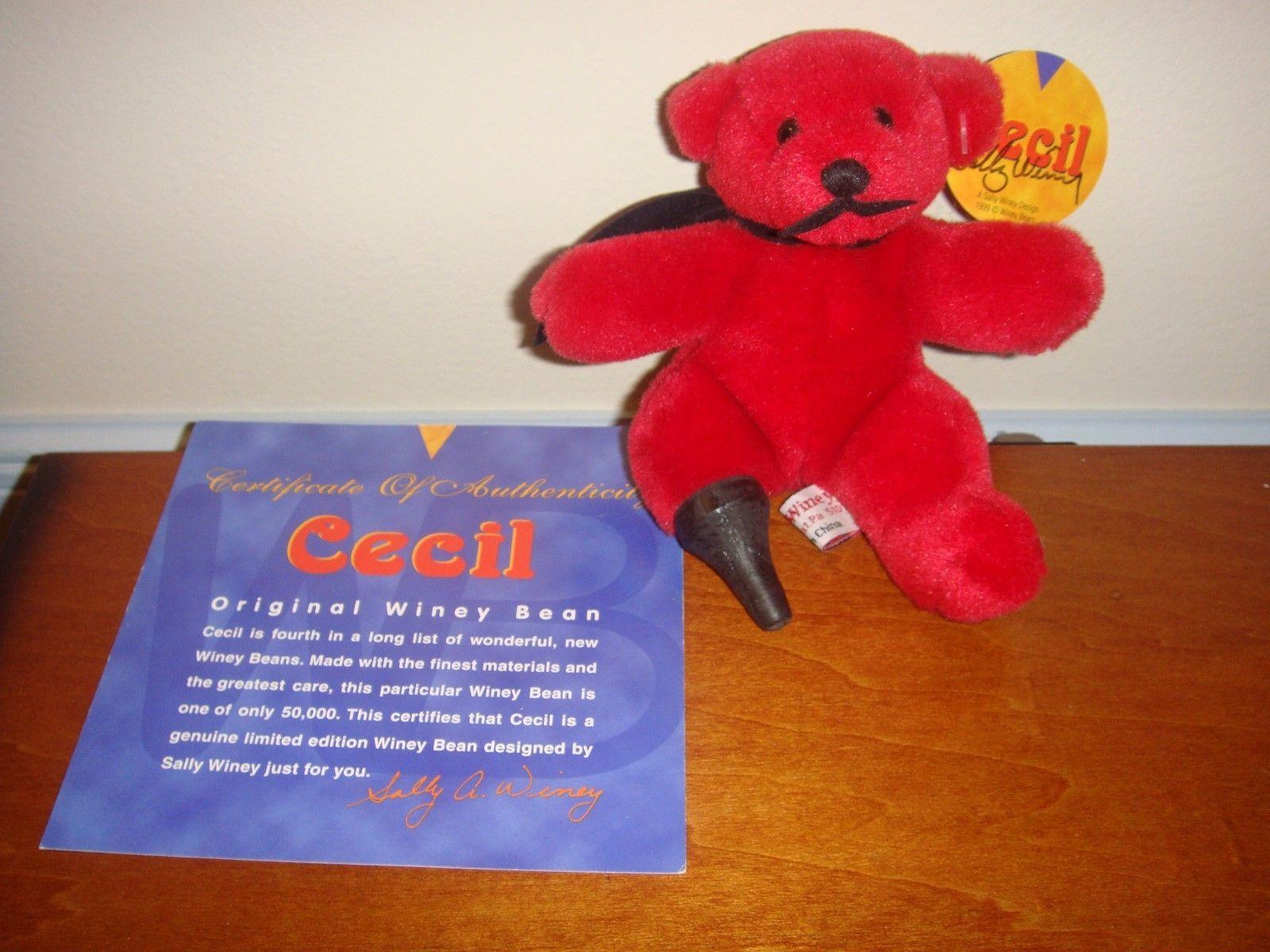 Sally Winey Cecil Plush Bear Signed