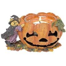 """Boyds Bearstone Votive """"Elvira Punkinbeary""""  #27737- Candle -2002- Retired - $39.99"""