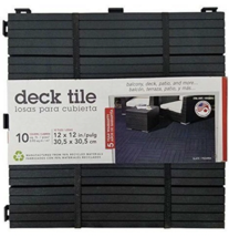 "NEW 10 Pack Multy Home Black Balcony Patio Deck Tiles 12"" x12"" 10 sqft Drainage image 1"