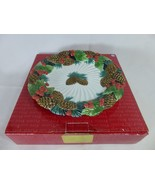 Fitz & Floyd Holiday Pine Sculpted Canape Plate - $39.59
