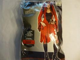 Fun World Red Devil Bride Holloween Costume Girls Dress Red/Black Size 8-10 - $11.87