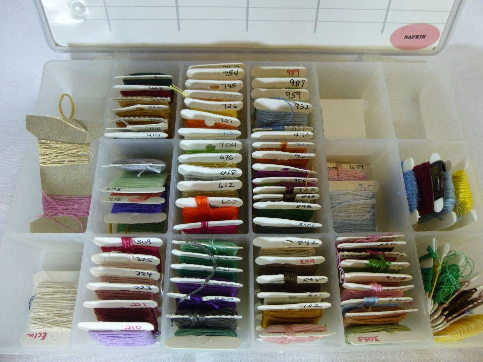 70 Cards Assorted Embroidery Floss In Darice Plastic