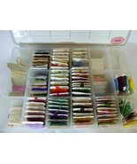 70+ Cards Assorted Embroidery Floss In Darice Plastic Organizer Box - $39.59
