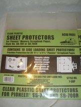 Pioneer 10 Pack Clear Plastic Sheet Protectors [Brand New] - $13.00