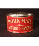 Work Mate Ground Tobacco Tin - Circa 1930 - (sku#1672) - $25.44