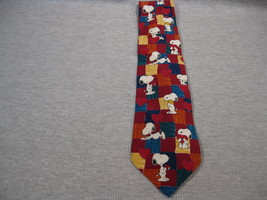 Peanuts Valentine Necktie Snoopy & Woodstock Red Hearts Puppy Love - $9.99