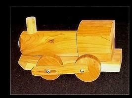 Toy Train Handmade  AB 654 Vintage Wooden image 1
