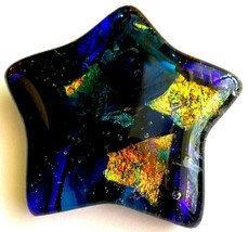 STAR ART GLASS!..... CABOCHON/PULL/PMC/GIFT .....FREE SHIPPING!.....SR/0... - $17.81