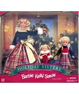 """Barbie Special Edition Holiday Sisters """"Barbie, Kelly & Stacie"""" 1998 [Brand New] - $68.45"""