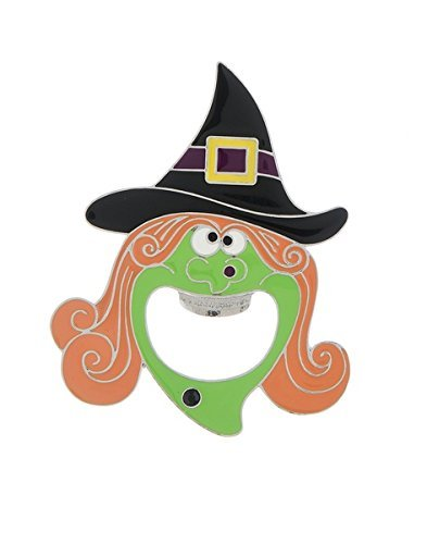 Ganz ~ Witch Head Bottle Opener, Orange/Green [Brand New]