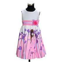 Cinda Neuf Filles Soirée d'été Floral robe rose,Lilas,Bleu 5-10 An - $13.36+