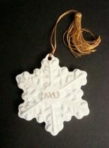Avon 1983 Christmas Remembrance Ceramic Snowflake Ornament - $4.99