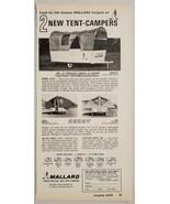 1964 Print Ad Mallard Tent Camper Trailers Canvasback & Decoy West Bend,WI - $12.85