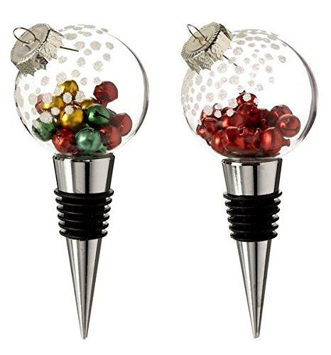 Ganz Wine Bottle Stopper Ornament Set of 2 [Brand New]