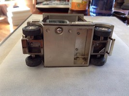 Used Great Condition Silver Toned Golf Cart Clock Green Square Face Black Wheels image 6