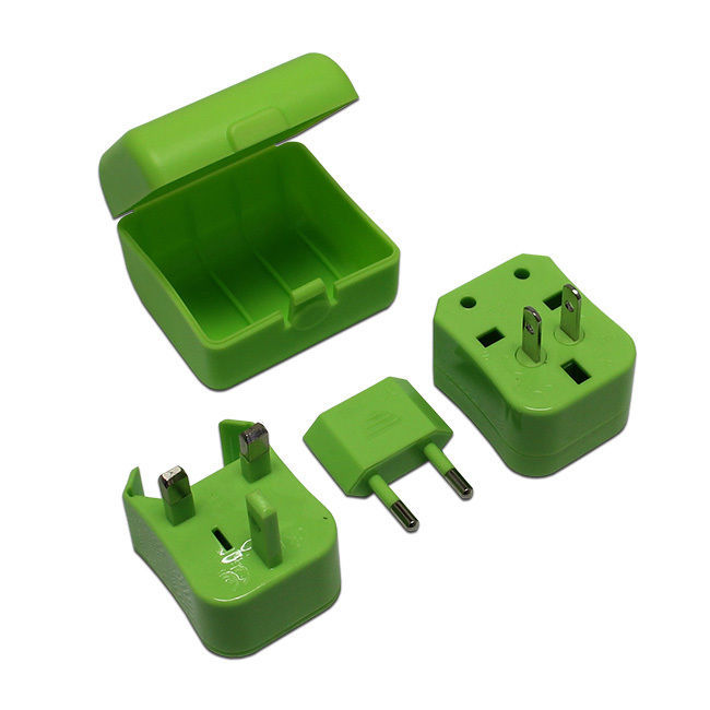 Green Universal Travel Plug Power Outlet Socket Adapter Converter US UK EU AU