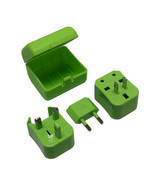 Green Universal Travel Plug Power Outlet Socket Adapter Converter US UK ... - £5.05 GBP