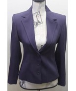 Marks & Spencer Women Blazer Purple Matte UK 10 Petite Polka Dots Lining... - $38.48