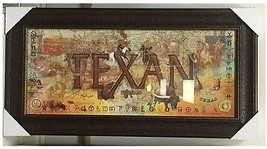 "Texan by Gary Crouch, Framed in Glass 40"" x by 24"" Rustic Wall Art, Texa... - $139.89"
