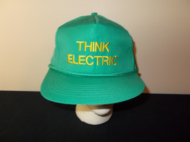 VTG-1990s Think Electric Electrician Contractor neon flourescent rope ha... - $27.83
