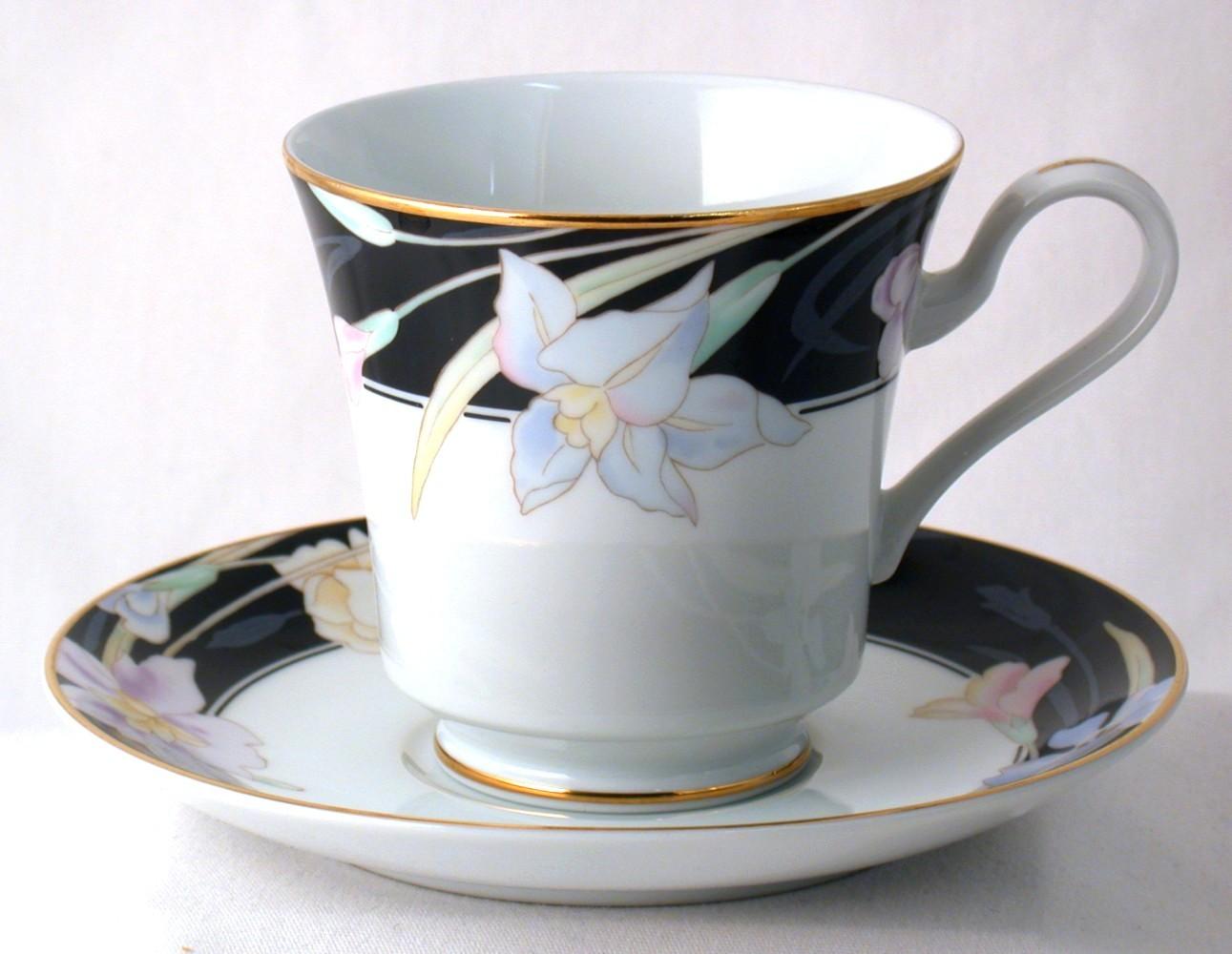 Mikasa Charisma Black Cup & Saucer Set New and 9 similar items