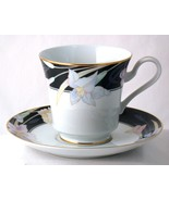 Mikasa Charisma Black Cup & Saucer Set New Fine China L9050 - $7.50