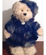 Nova plush 14 inch bear in fur coat - $18.50