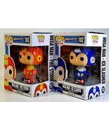 FUNKO POP Mega Man Fire Storm & Mega Man Ice Slasher Exclusives Pop! Games - £31.45 GBP