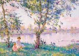 """500 Piece Jigsaw Puzzle """"Morning by the Lake"""" [Brand New] - $57.71"""