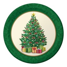 """Perfect Pine Tree 8 Ct 9"""" Dinner Lunch Plates Christmas Party - $3.79"""