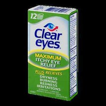 Clear Eyes Maximum Itchy Eye Relief Eye Drops 0.5 fl oz bottle Exp Date ... - $8.98